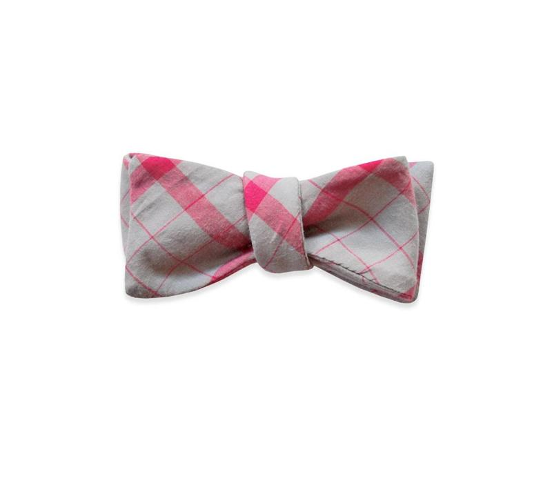 The Broker Plaid Bow Tie
