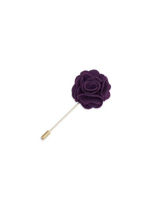 Pocket Square Clothing Purple Floral Lapel Pin