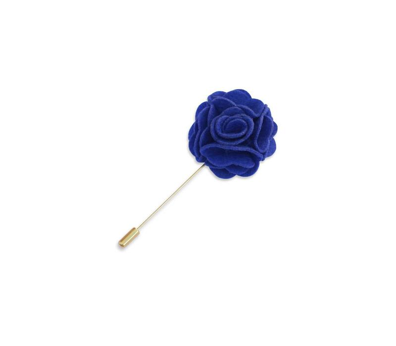Blue Floral Lapel Pin