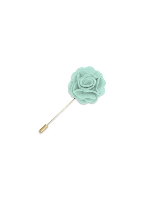 Pocket Square Clothing Mint Floral Lapel Pin