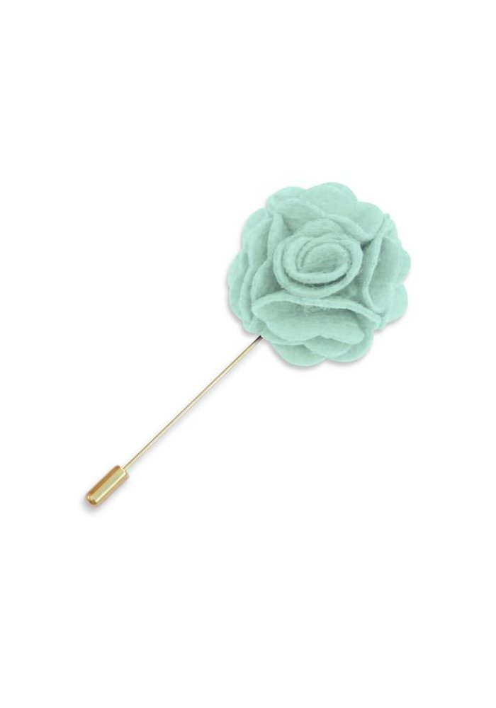 Mint Floral Lapel Pin