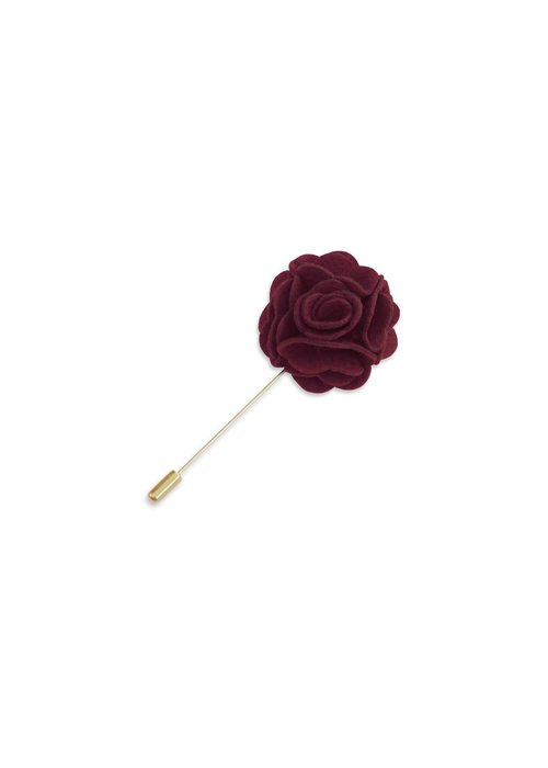 Pocket Square Clothing Maroon Floral Lapel Pin