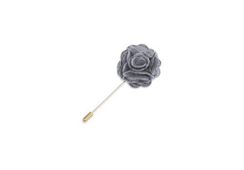 Pocket Square Clothing Gray Floral Lapel Pin