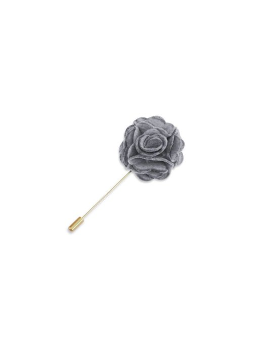 Pocket Square Clothing Gray Floral Lapel Pin