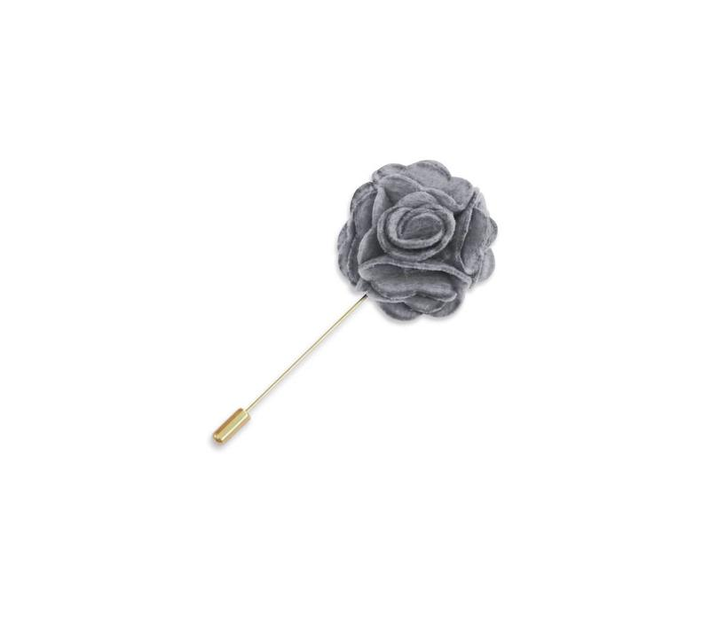 Gray Floral Lapel Pin