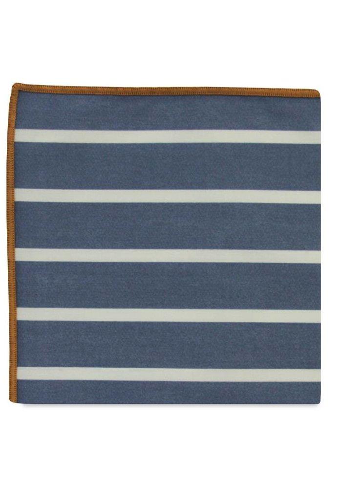 The Fleming Stripe Cotton Pocket Square