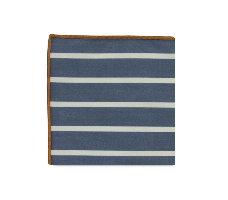 The Fleming Stripe Cotton Pocket Square