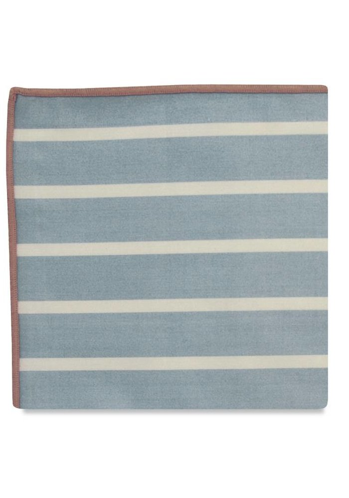 The Hampden Stripe Cotton Pocket Square