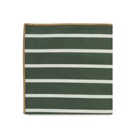 The Liddel Stripe Cotton Pocket Square