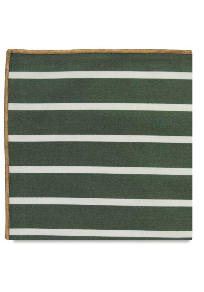 The Liddel Stripe Cotton Pocket Square