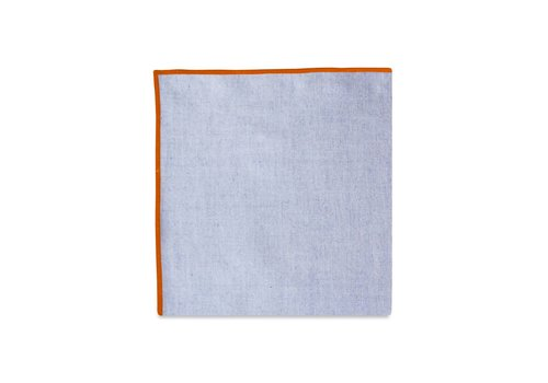 Pocket Square Clothing The Merrow (Orange Chambray) Pocket Square