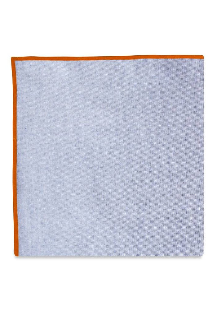 The Merrow (Orange Chambray) Pocket Square