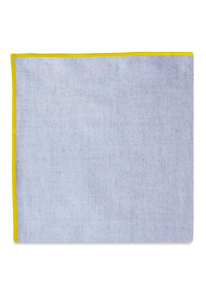 The Merrow (Yellow Chambray) Pocket Square