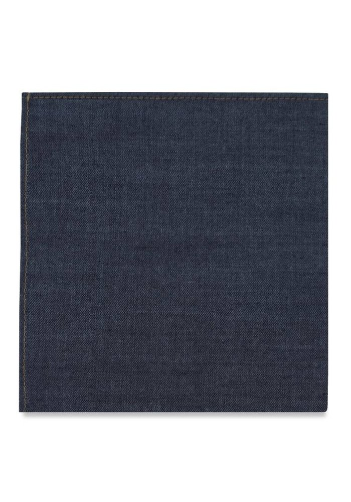 The York Denim Pocket Square