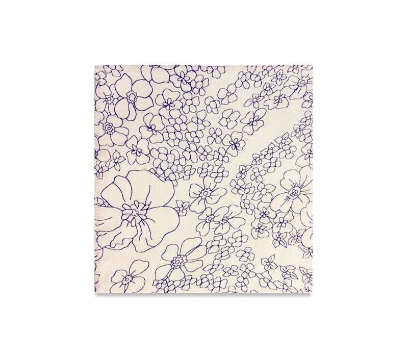 The Azalea Floral Pocket Square