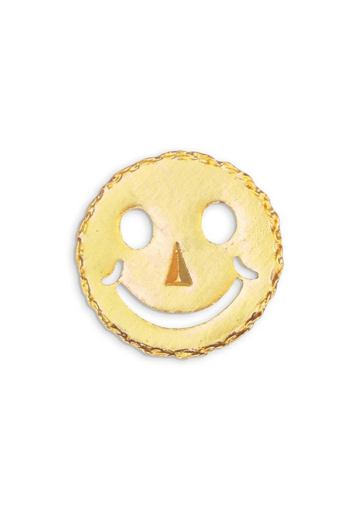 Gold Smiley Pin