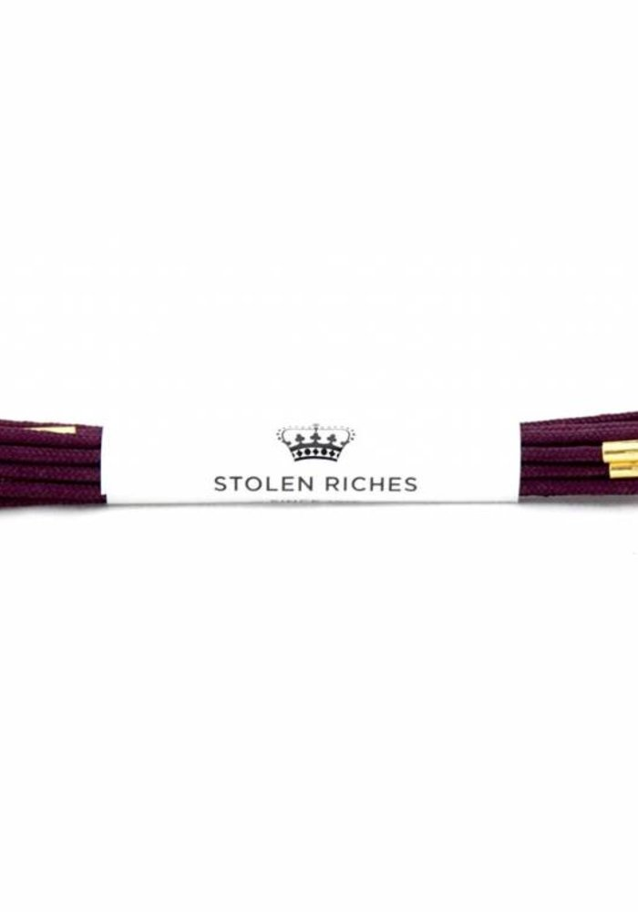 Stolen Riches - Purple Shoe Laces - Gold Tips