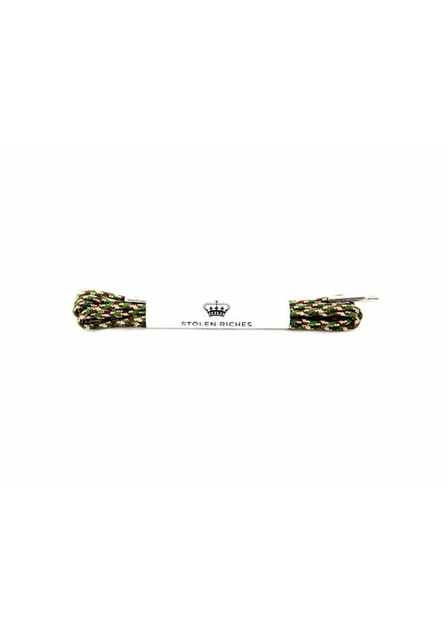 Stolen Riches Camo Shoe Laces - Silver Tips