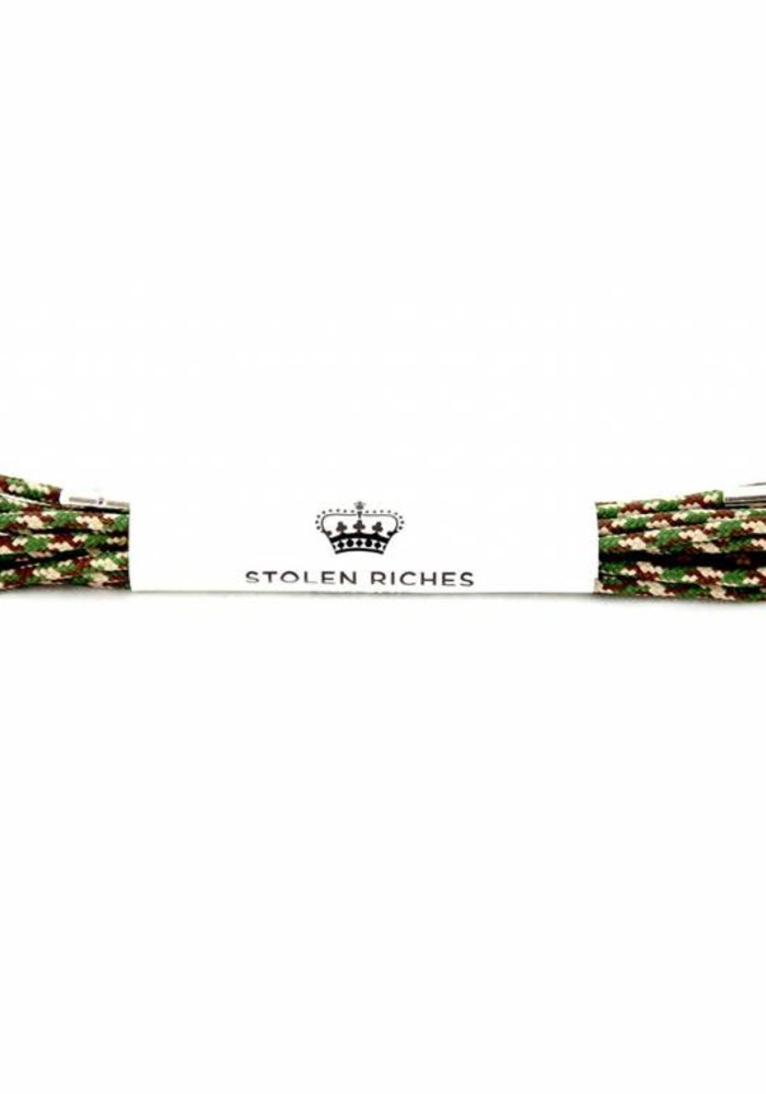 Stolen Riches - Camo Shoe Laces - Silver Tips