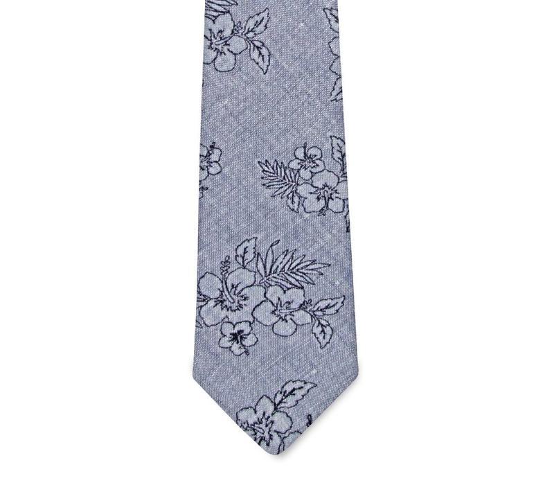 The Ezra Linen Floral Tie