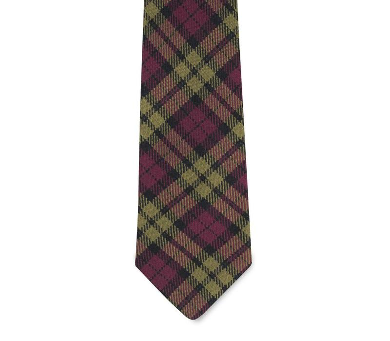 The Holten Wool Plaid Tie
