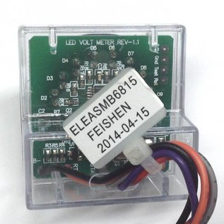 Pride Mobility ELEASMB6815 New Pride Electronic LED Voltmeter ELECTRONIC,ASSY,LED METER,C-1020-127