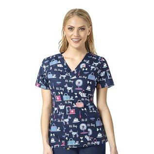 WonderWink Women's 4-Stretch Print Top 6217