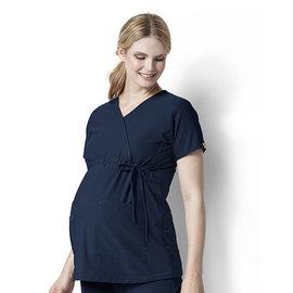 WonderWink Women's Maternity Mock Wrap Top 6445