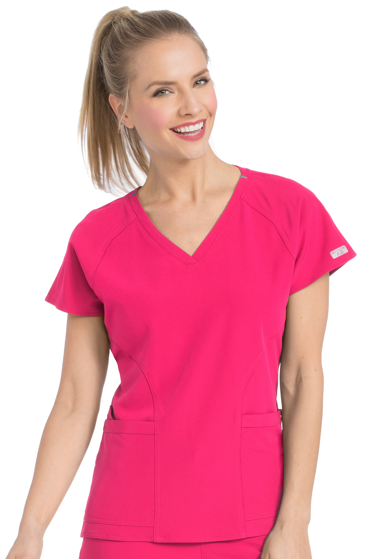 New Med Couture Scrub Work AIR Women/'s Sky High Tops V-Neck Pocket #8537