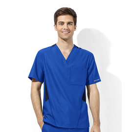 WonderWink WonderWink WonderTech Men's Athletic Fit V-Neck Scrub Top 6213