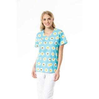 Zoe & Cloe Women's Print V-Neck Top Z12202