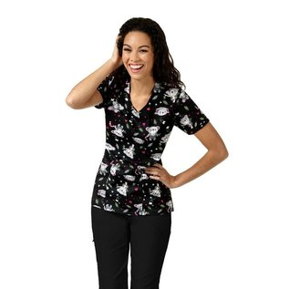 Zoe & Cloe Women's Print V-Neck Top Z12202