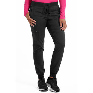 Med Couture Touch Jenny Yoga Waist Jogger Scrub Pant 7710 Black XL