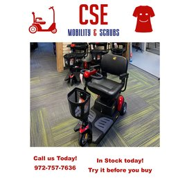 Pride Mobility Pride Go Go Elite Traveler 3 Wheel Power Mobility Scooter SC40E