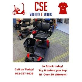 Pride Mobility Pride Go Go Elite Traveler 4-Wheel Power Mobility Travel Scooter SC44E