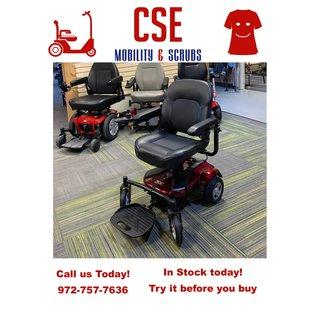 Merits New Merits EZ-GO Compact Travel Power Wheel Chair Red
