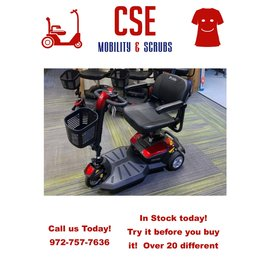 Pride Mobility Pride Go Go LX 3 Wheel Power Mobility Travel Scooter SC50LX