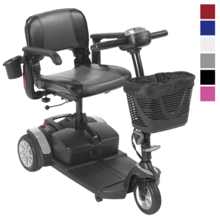 Drive Medical New Drive Spitfire EX2 3-Wheel Power Mobility Travel Scooter