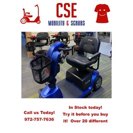 Pride Mobility Pride Victory 10.2 3 Wheel Scooter Ocean Blue