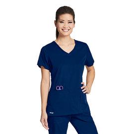 GREY'S ANATOMY Grey's Anatomy 4 Pocket Crossover V-Neck Scrub Top 41423