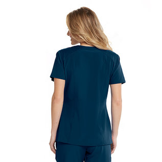 Barco One Barco One Wellness 4 Pocket V-Neck Contrast Panel Scrub Top BWT012