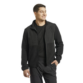 White Cross White Cross Men's Polar Fleece Warm Up Solid Scrub Jacket 453 Black 2X