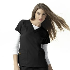 WonderWink WonderWink 4-Stretch Sporty V-Neck Top 6214