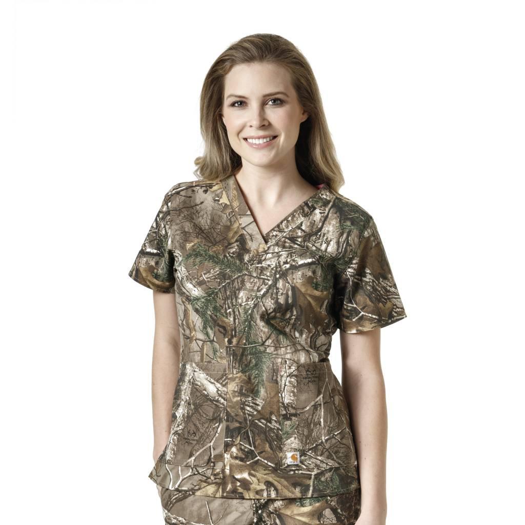 40529de551d Carhartt Women's RealTree Print V-Neck Top C12405 - CSE Mobility and ...
