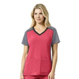 Carhartt Women's Cross-Flex Multi-Color Knit Mix V-Neck Top C12410