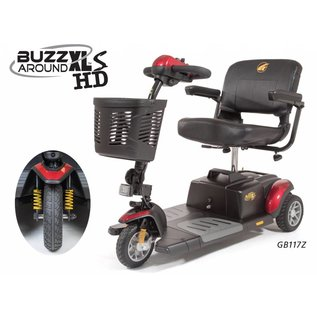 Golden New Golden BuzzAround XLs HD 3 Wheel Power Mobility Travel Scooter