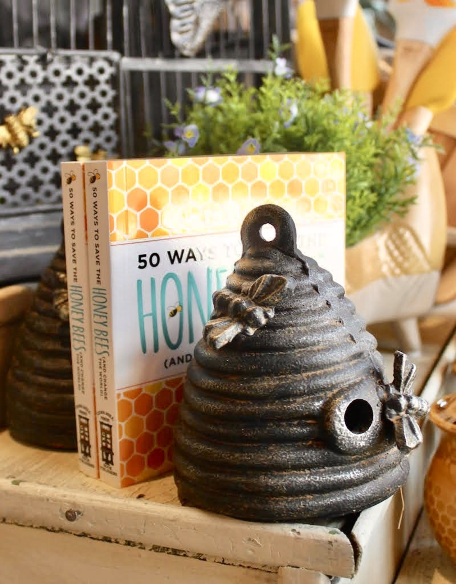 Cast Iron Beehive Bookends