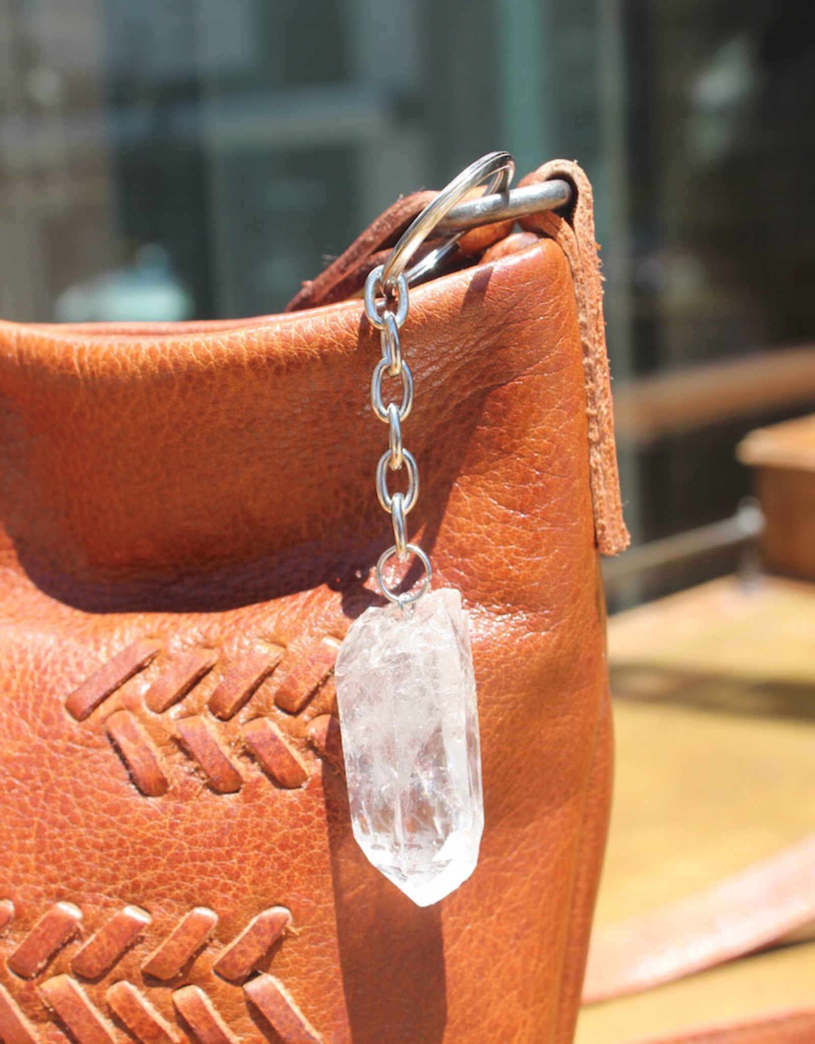 Natural Quartz Keychain