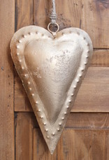 Antique Brass Metal Hearts