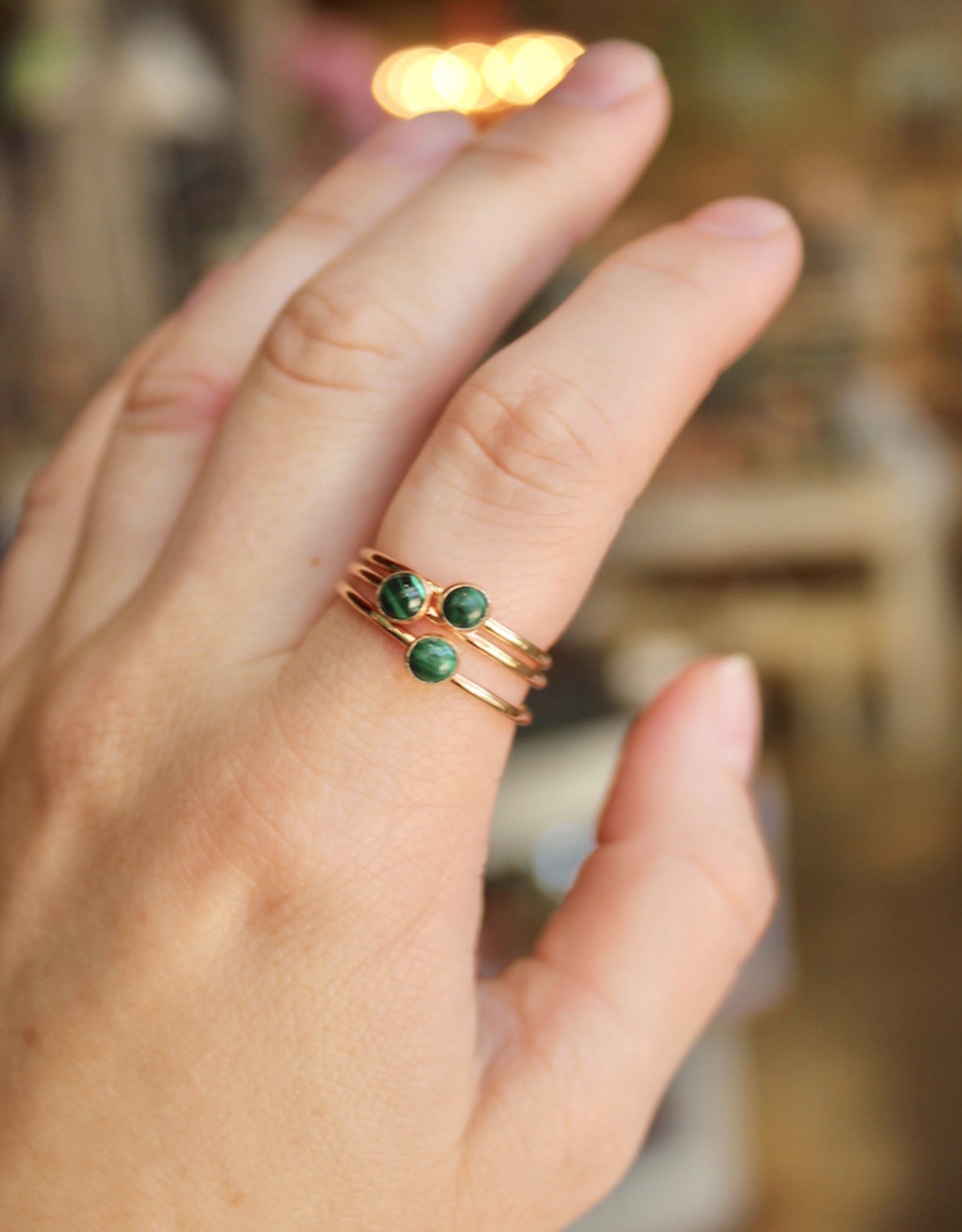 Mineral and Matter Malachite Stacking Ring